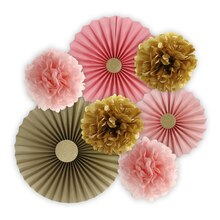 Celebrate It Occasions Poofs Décor Kit, Pink & Gold, Contents